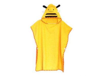 Детское полотенце-накидка пончо (аналог Skip Hop) с капюшоном - Пчелка купить в интернет-магазине «Берегиня» Украина