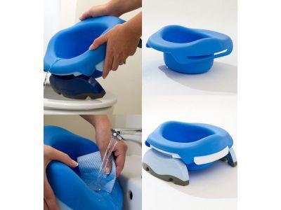 Дорожный горшок пластиковый Potette Plus ОРИГИНАЛ голубой купить в интернет-магазине «Берегиня» Украина