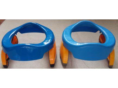 Дорожный складной горшок пластиковый синий и сидение для унитаза 2 в 1 купить в интернет-магазине «Берегиня» Украина