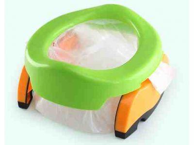 Дорожный складной горшок пластиковый зеленый и сидение для унитаза 2 в 1  купить в интернет- edeea0ceeb9