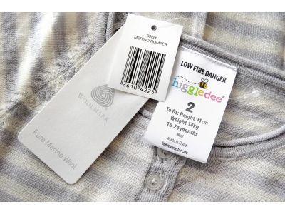 Человечек слип Higgledee 6-9мес шерсть мериноса серый купить в интернет-магазине «Берегиня» Украина