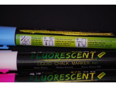 Меловой маркер на водной основе Fluorescent - скошенный край купить в интернет-магазине «Берегиня» Украина