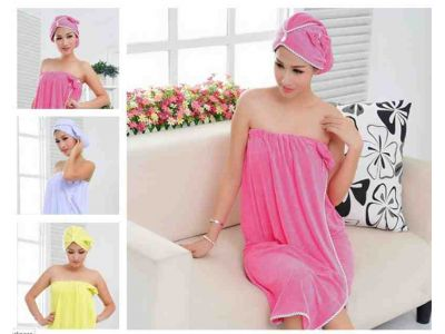 Банный женский комплект из бамбука (полотенце-сарафан и чалма) купить в интернет-магазине «Берегиня» Украина