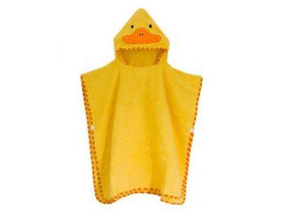 Детское полотенце-накидка пончо (аналог Skip Hop) с капюшоном - Утка купить в интернет-магазине «Берегиня» Украина