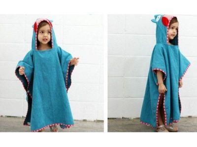 Детское полотенце-накидка пончо (аналог Skip Hop) с капюшоном - Сова купить в интернет-магазине «Берегиня» Украина