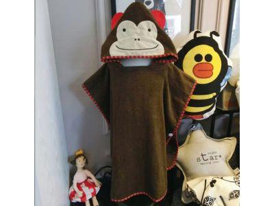 Детское полотенце-накидка пончо (аналог Skip Hop) с капюшоном - Обезьянка купить в интернет-магазине «Берегиня» Украина