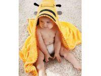 Детское полотенце с капюшоном ( полный аналог Skip Hop) - Пчелка купить в интернет-магазине «Берегиня» Украина
