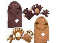 Полотенце уголок + 2 игрушки на руку (Пертушки) + игрушка погремушка купить в интернет-магазине «Берегиня» Украина