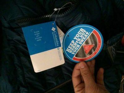 Оригинальный пуховик Columbia с системой Omni-Heat - Синий купить в интернет-магазине «Берегиня» Украина