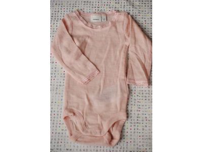Бодик с руковами Name It чистая шерсть мериноса розовій размер 62 купить в интернет-магазине «Берегиня» Украина