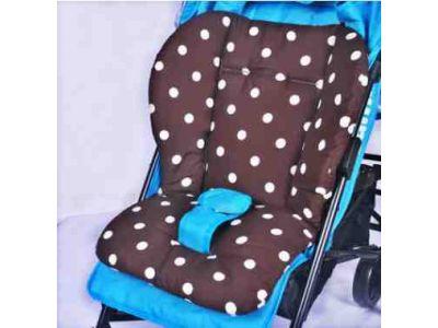 Матрасик в коляску, автокресло, стульчик для кормления - Кружки хлопок купить в интернет-магазине «Берегиня» Украина