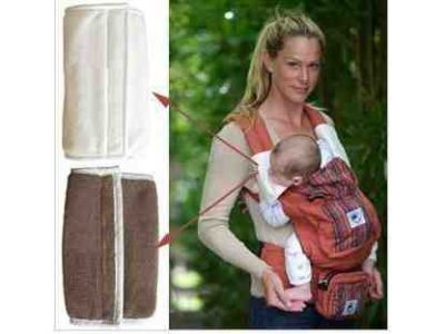 Накладки для сосания на лямки к рюкзакам Ergobaby коричневые на липучках, оригинал купить в интернет-магазине «Берегиня» Украина