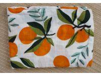 Марлевые муслиновые пеленки 120*120 - Абрикосы купить в интернет-магазине «Берегиня» Украина