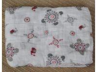 8a3267a89ef4 Марлевые муслиновые пеленки 120 120 - Орнамент слоны розовые купить в  интернет-магазине «