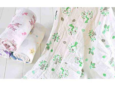 Марлевые муслиновые пеленки 120*120 - Деревья купить в интернет-магазине «Берегиня» Украина