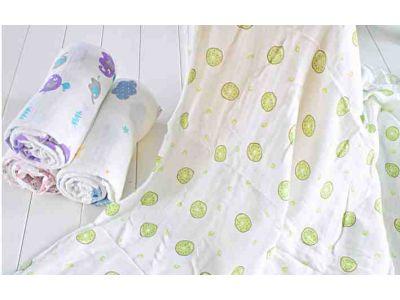 Марлевые муслиновые пеленки 120*120 - Киви купить в интернет-магазине «Берегиня» Украина