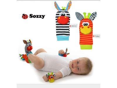 Развивающие погремушки на Ножки фирмы Sozzy купить в интернет-магазине «Берегиня» Украина