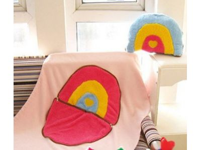 Теплое одеяльце и подушка, 2 в 1 - Радуга купить в интернет-магазине «Берегиня» Украина