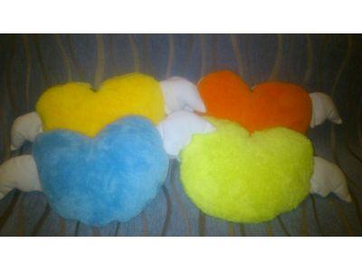 Теплое одеяльце и подушка, 2 в 1 - Сердце купить в интернет-магазине «Берегиня» Украина