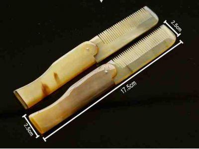 Расческа из рога складная для волос и бороды купить в интернет-магазине «Берегиня» Украина