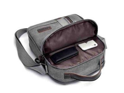 Мужская сумка барсетка из хлопка K002 песочная купить в интернет-магазине «Берегиня» Украина