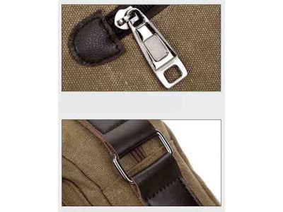 Мужская сумка барсетка из хлопка K004 черная купить в интернет-магазине «Берегиня» Украина