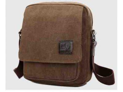 Мужская сумка барсетка из хлопка K004 коричневая купить в интернет-магазине «Берегиня» Украина