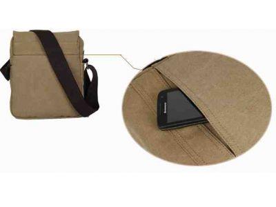 Мужская сумка барсетка из хлопка K008 песочная купить в интернет-магазине «Берегиня» Украина