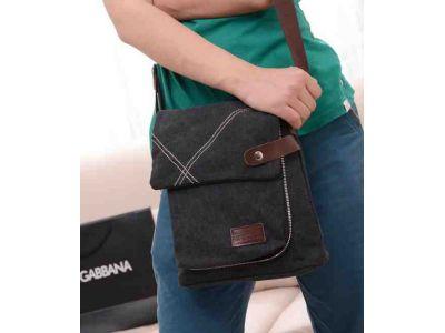 Мужская сумка барсетка из хлопка K009 коричневая купить в интернет-магазине «Берегиня» Украина