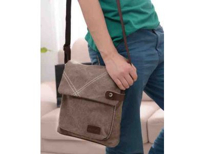 Мужская сумка барсетка из хлопка K009 черная купить в интернет-магазине «Берегиня» Украина