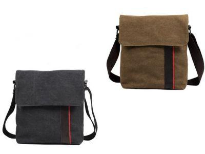 Мужская сумка барсетка из хлопка K014 коричневая купить в интернет-магазине «Берегиня» Украина