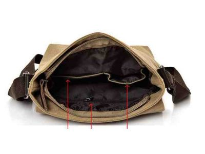 Мужская сумка барсетка из хлопка K015 черная купить в интернет-магазине «Берегиня» Украина
