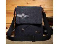 Мужская сумка барсетка из хлопка K016 черная купить в интернет-магазине «Берегиня» Украина