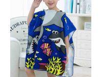 Пляжное полотенце пончо - Рыбки купить в интернет-магазине «Берегиня» Украина