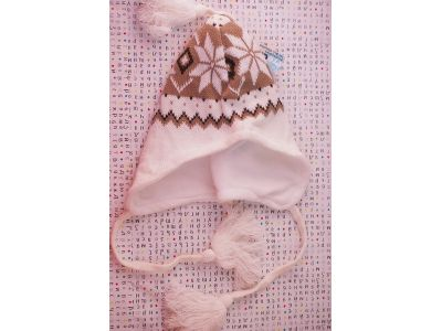 Детская вязаная шапка с флисовой подкладкой Climate size 57 №87 купить в интернет-магазине «Берегиня» Украина