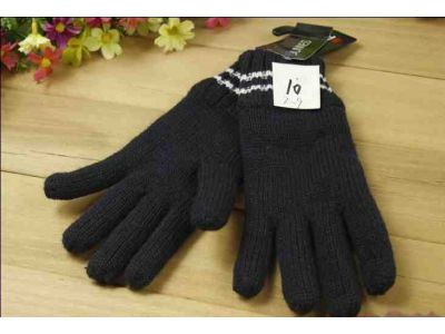 Перчетки вязаные с полярным утеплителем Thinsulate черные с белым 7-9 лет купить в интернет-магазине «Берегиня» Украина