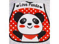 Слюнявчик с карманом - Панда красная купить в интернет-магазине «Берегиня» Украина