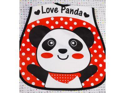Слюнявчик с карманом - Панда красная купить в интернет-магазине «Берегиня»  Украина 92091258a6e