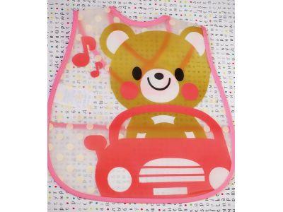 Слюнявчик с карманом - Мишка в автомобиле купить в интернет-магазине «Берегиня» Украина