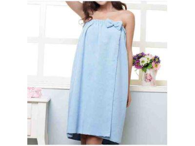 Банное женское полотенце-сарафан из микрофибры на резинке купить в интернет-магазине «Берегиня» Украина