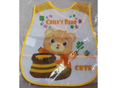 Слюнявчик с карманом - Медведь купить в интернет-магазине «Берегиня» Украина
