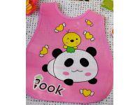 Слюнявчик с карманом - Розовая панда купить в интернет-магазине «Берегиня» Украина