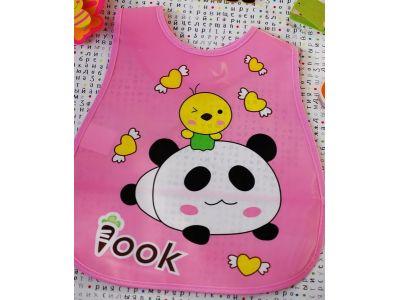 Слюнявчик с карманом - Розовая панда купить в интернет-магазине «Берегиня»  Украина 35e99fc3c21