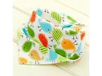 Слюнявчик, нагрудник, арафатка на кнопке - Птички купить в интернет-магазине «Берегиня» Украина