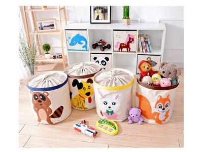 Корзина для игрушек хлопок с аппликацией - Волк купить в интернет-магазине «Берегиня» Украина