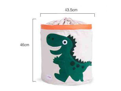 Корзина для игрушек хлопок с аппликацией - Розовый динозавр купить в интернет-магазине «Берегиня» Украина