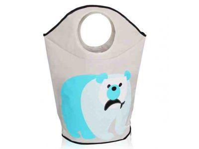 Корзина для игрушек хлопок с аппликацией - Медведь купить в интернет-магазине «Берегиня» Украина