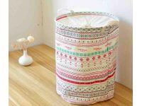 Корзина для игрушек из хлопка Большая - Розовый орнамент купить в интернет-магазине «Берегиня» Украина