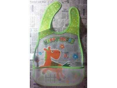 Слюнявчик с карманом - Мишка футболист купить в интернет-магазине «Берегиня» Украина