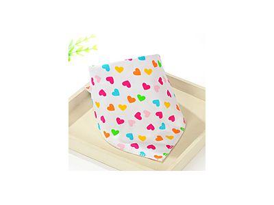 Слюнявчик, нагрудник, арафатка на кнопке - Сердечки купить в интернет-магазине «Берегиня» Украина